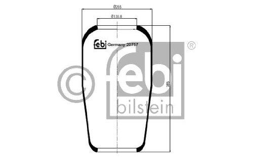 Febi Bilstein 20757 Boot, air suspension