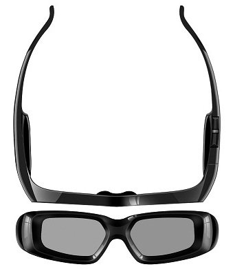 SainSonic 3D Rechargeable Infrared Active Shutter Glasses For Panasonic 3D HDTVs