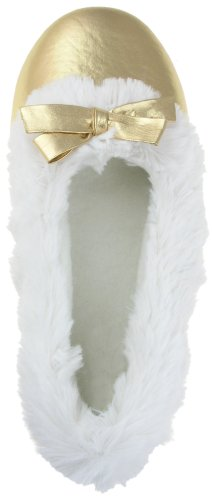 Cheap Capelli New York Metallic Lame Ballet Slipper Ladies Indoor Slipper (B00495UL2O)