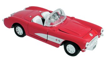 Die Cast 1957 Chevrolet Corvette Car, 1:34 scale - Available in Red, Black or Blue - Only one included