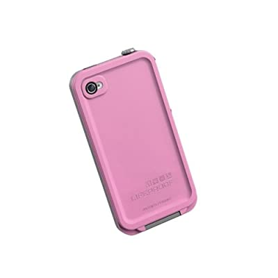 LifeProof FRE iPhone 4/4s Waterproof Case - Retail Packaging - PINK/GREY by Lifeproof