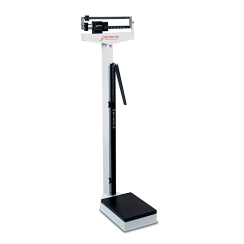 Detecto 439 Balance Beam Doctor/Physician Scale w/ Height Rod, 400 lbs, Made in the USA