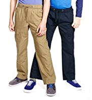 2 Pack Pure Cotton Pull On Trousers
