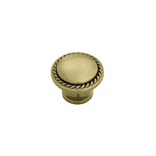 Liberty Pn0293V-Sba-C 30Mm Rope Edged Cabinet Hardware Knob front-624296