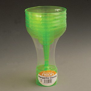 Essential Housewares Neon Green Margarita Glasses