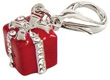 Red Gift Box Collar Charm for Dogs and Cats
