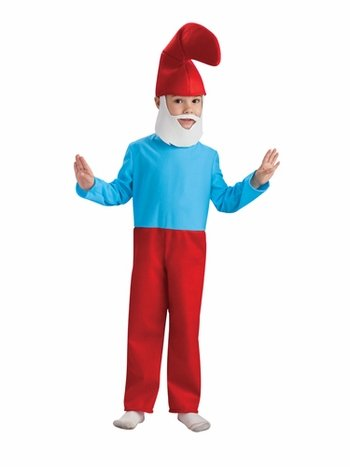 [Smurfs Movie Papa Smurf Costume,Medium 8-10] (Smurf Costume 2 Year Old)