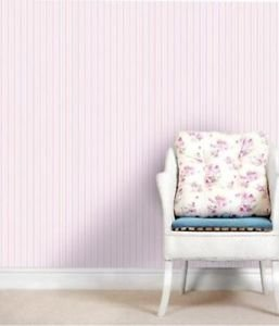Pretty Coloroll Poppet Stripe Wallpaper - Pastel from New A-Brend