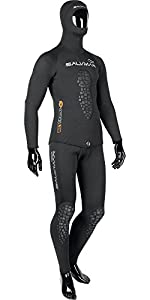 SALVIMAR Wet Drop Cell - Traje húmedo de buceo, color negro, talla 7 mm M/46-48