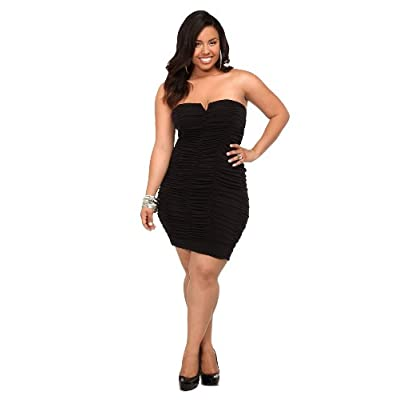 Awesome Plus Size Bbw Dress Women Clothing Sexy Black Vintage Bandage Dress