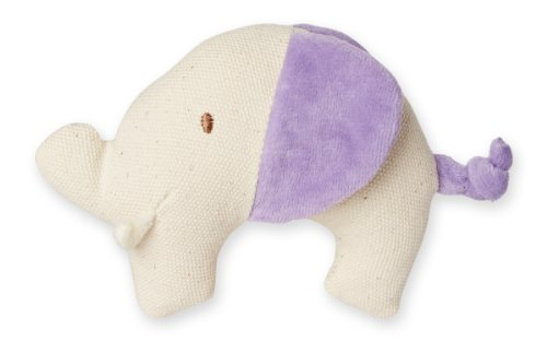 My Natural Canvas Knit Teether, Purple Elephant - 1