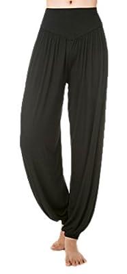 VSVO Womens Modal Elastic Waistband Fitness Yoga Harem Pants
