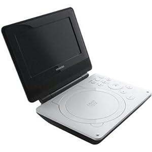 Toshiba SDP74S 7-Inch Portable White DVD Player (White)