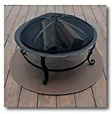 """Goods of the Woods 36"""" Round High Temperature Grill Mat 12102 - Black"""