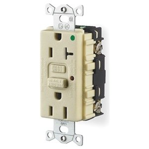 Receptacle, Gfci, 15 Amp, 120 Vac, 5-15R, Led