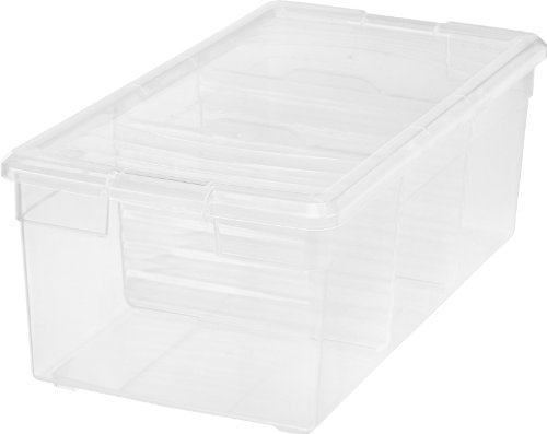 IRIS Media Storage Box, 6 Pack, Clear (Dvd Storage Boxes With Lids compare prices)