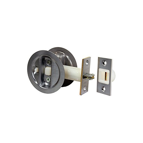 Jr products 20905 chrome pocket door lock hardware locks for 007 door locks