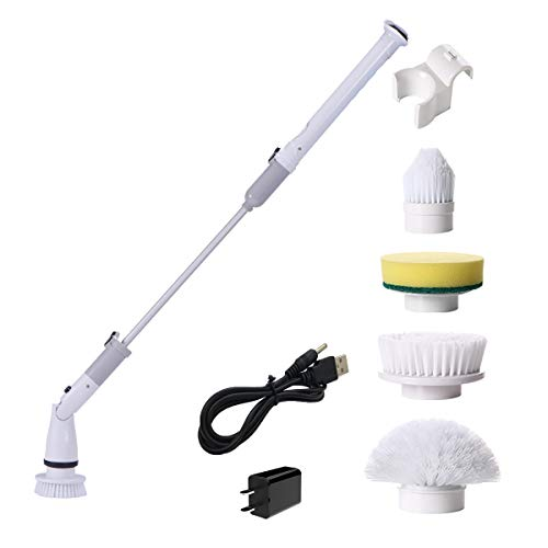バスポリッシャー 風呂掃除 電動ブラシ バスクリーナー 充電式 四種類ブラシ付 充電式 無線操作 浴槽台所天井床などの掃除に適用 年末掃除