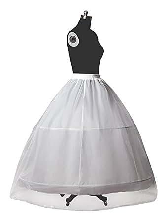 A-line Full 2 Tier 2 Bone Hoop Floor-length Dress Slip Petticoat