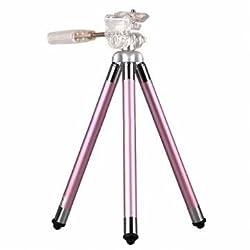 Original Fotopro FY-583 Portable Aluminium Alloy Tripod Holder Bracket For Cellphone Camera DV-Pink
