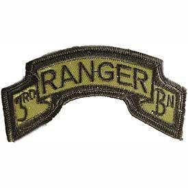 On Patch - U.S. Ranger Tabs - Rangers 3rd Battalion Logo: Clothing