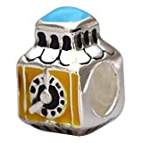 Everbling Small World England Enamel 925 Sterling Silver Bead Fits Pandora Chamilia Biagi Troll Charms Europen Style Bracelets