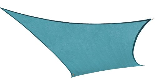 Coolaroo Square Shade Sail 11 Feet 10 Inches with Hardware Kit, Ocean Blue