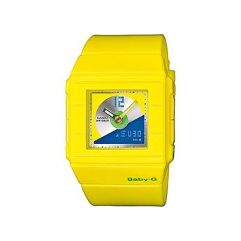 Ladies Casio Baby-G yellow watch