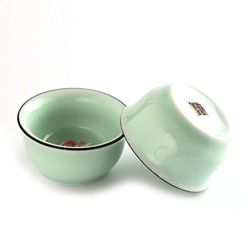 240ml Gong Fu thé chinois Céladon de Longquan poisson 3D FAIT MAIN Tasse à thé tasse à thé