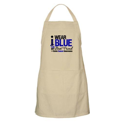 Cafepress I Wear Blue Best Friend BBQ Apron - Standard