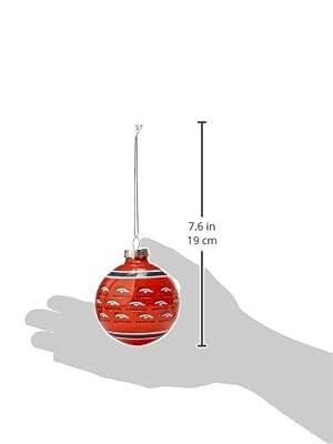 NFL Football 2015 Repeat Print Glass Ball Ornament - Pick Team