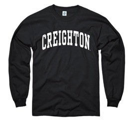 Creighton Bluejays Black Youth Long Sleeve Tee Shirt by New Agenda