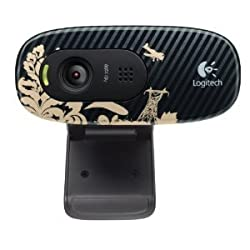 Logitech C270 720p Widescreen Video Call and Recording HD Webcam - 960-000817 (Victorian Wallpaper)