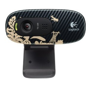 Logitech C270 720p Widescreen Video Call and Recording HD Webcam – 960-000817 (Victorian Wallpaper)
