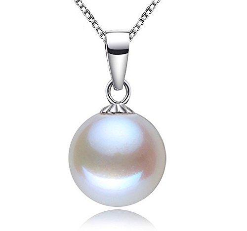 """Kim Johanson Argento Sterling 925 Donna Collana """"White Pearl"""" Perle Coltivate D'acqua Dolce Perla Compresi Sacchetto Regalo"""