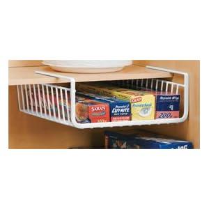 Under Shelf Wrap Rack in WHITE model 1983W from Organize It All