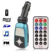Car MP3 FM Transmitter, Supports USB Flash Disk SD / TF / MMC Card (Blue)