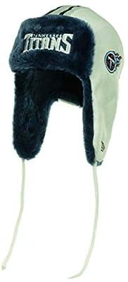 """Tennessee Titans New Era NFL Fur Knit Beanie Helmet Trapper Hat Cap """"Trapskin"""""""