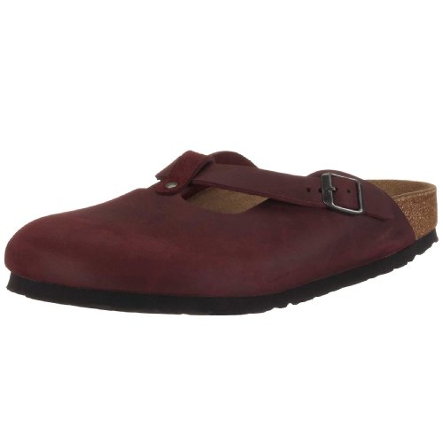 Birkenstock Fayette Natural Leather, Style-No. 16171, Women Clogs, Zinfandel, EU 39, normal width
