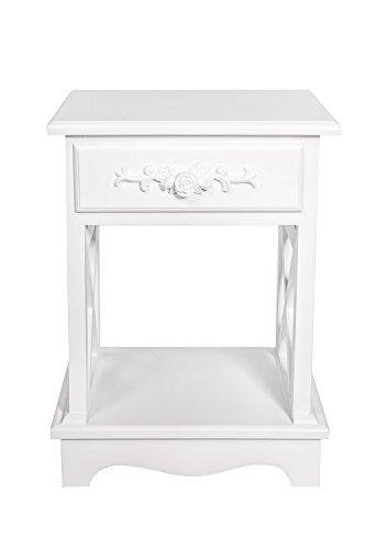 Beistelltisch Nachttisch weiß
