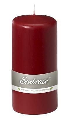 Ivyline Bolsius 150 70 Mm Embrace Pillar Candle Burgundy by Ivyline