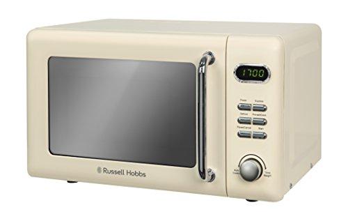 Russell Hobbs RHRETMD706C 17L Retro Digital 700w Solo Microwave Cream