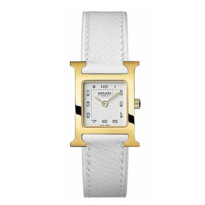 Hermes H Hour Small Ladies Gold Plated Quartz Watch - 036735WW00