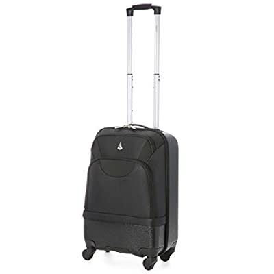Aerolite léger Shell dur / Soft Shell hybride ABS / Polyester 4 Wheel Spinner Voyage bagages Valise