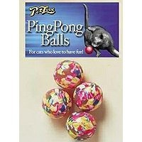 Pet Love Ping Pong Play Balls 4 Pack Cat Toy