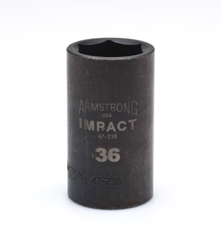 Armstrong 47-235 1/2-Inch Drive 6 Point Deep 35 mm Impact Socket