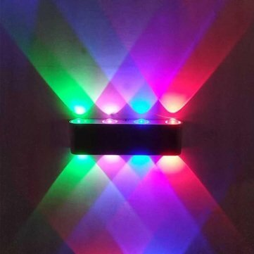 8W Led Wall Lighting Fitting Red Green Blue Pink 110-220V