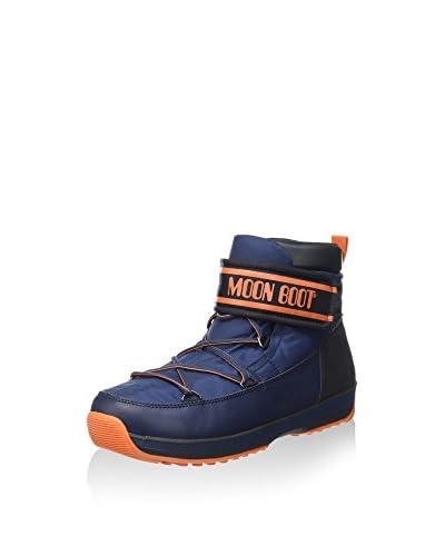 Moon Boot Botas de invierno Lem Mid Strap Azul / Naranja