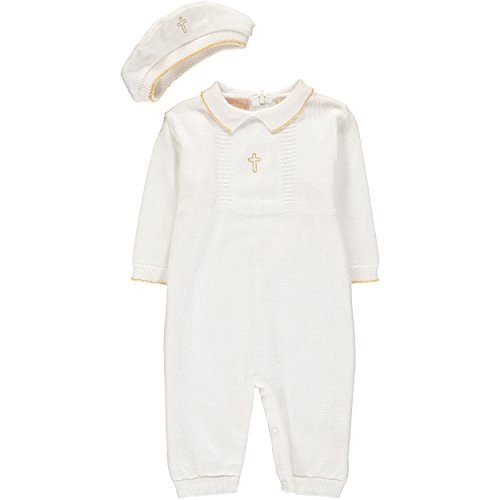 Baby Christening Longall with Hat - Cross Detail (12 Months)