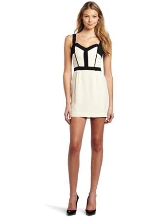 Rebecca Minkoff Women's M Bustier Dress, Cream/Black, 0